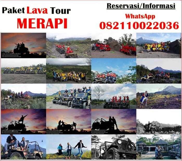 gambar lava tour merapi sunrise