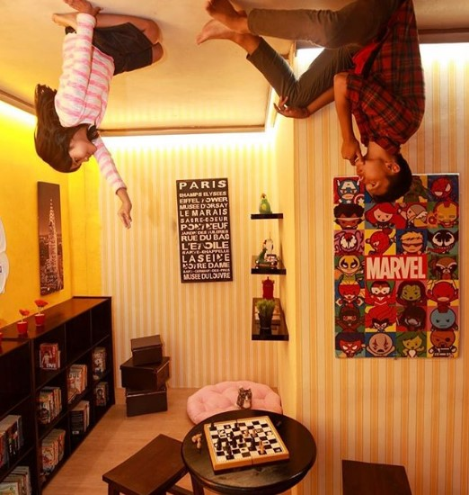 kids room upside down world jogja